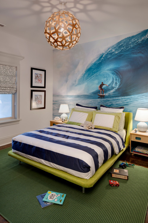 sophisticated boys rooms with a touch of surfing decor
