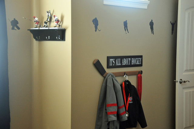 Hockey Themed Boys Room Sports Transitional Kids