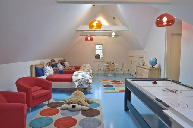 House in Darien contemporary-kids