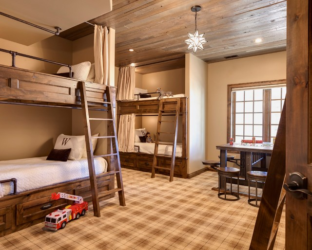 Hunters ridge bunk room rustic kids chicago by ed for Rooms for kids chicago