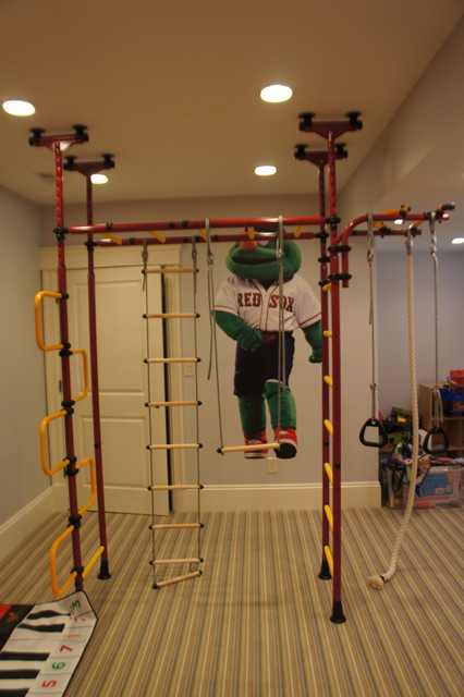 Indoor hockey rink and jungle gym for Baby jungle gym indoor