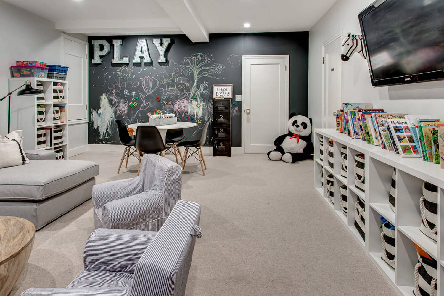75 Beautiful Kids Room With Black Walls Pictures Ideas March 2021 Houzz