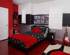 Industrial, edgy teen bedroom industrial-kids