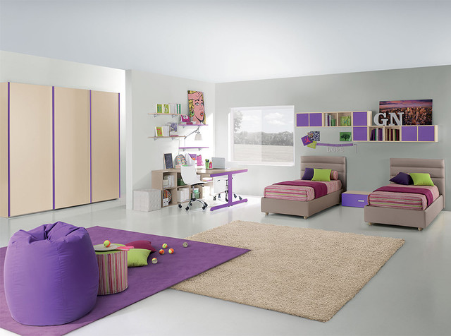 Italian Kids Bedroom Composition Vv G007 Valentini Furniture Store