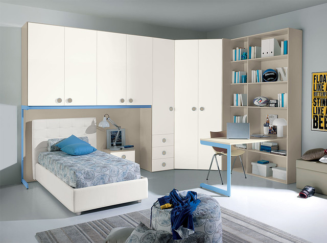 italian kids bedroom set vv g018 valentini furniture 11228 | contemporary kids