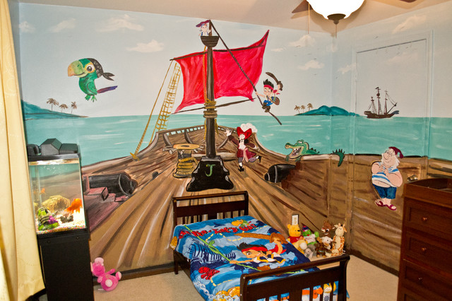 Jake and the neverland pirates kids room mural for Kids pirate room
