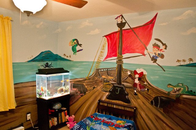 Jake and the Neverland Pirates Kids Room Mural - Traditional ...