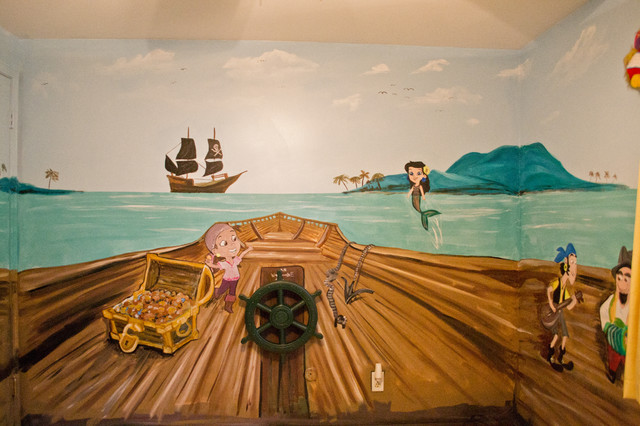 Jake and the neverland pirates kids room mural for Mural kids room