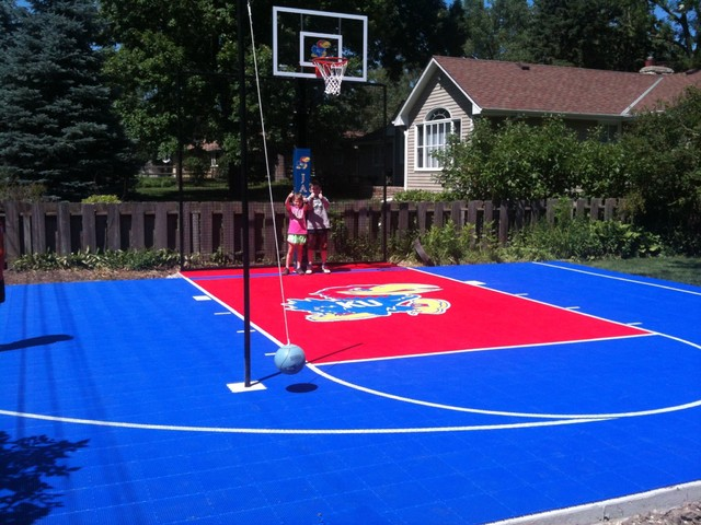 Jayhawks Fan Basketball Court Traditional Kids