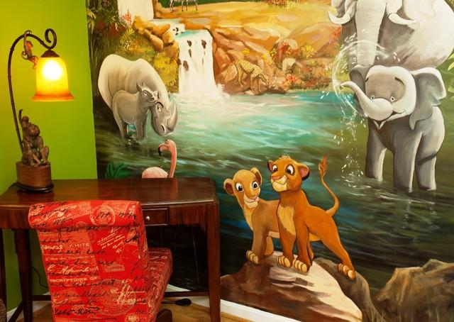 Jungle Girl's Bedroom traditional-kids