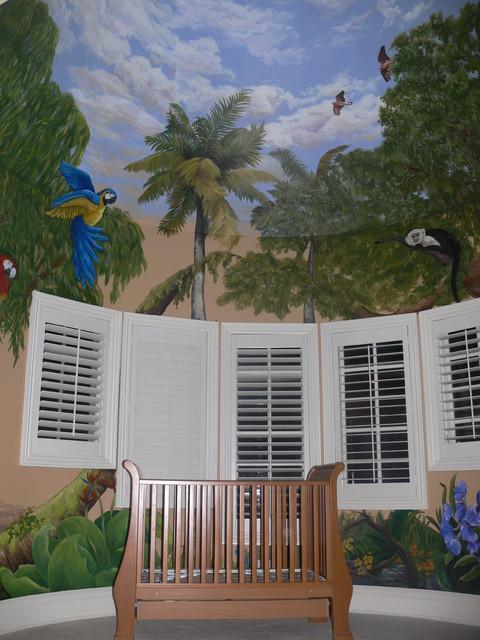 Jungle Mural tropical-kids