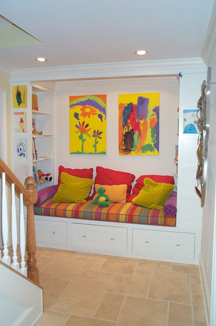 Kids Basement Space Reading Nook