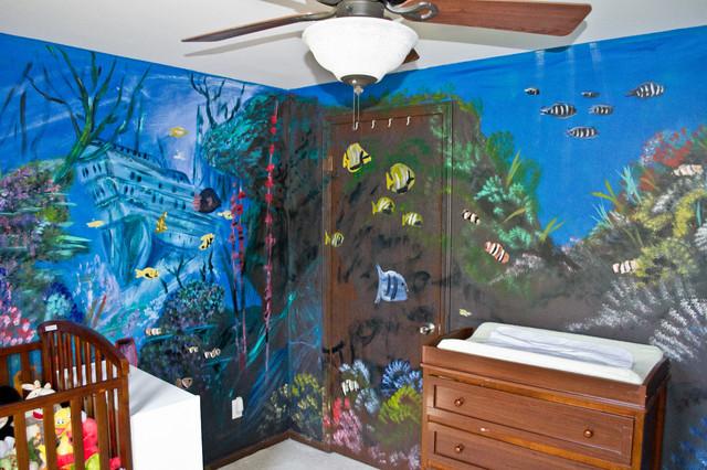 Kids Room Underwater Mural Modern Kids Other By CNY Murals