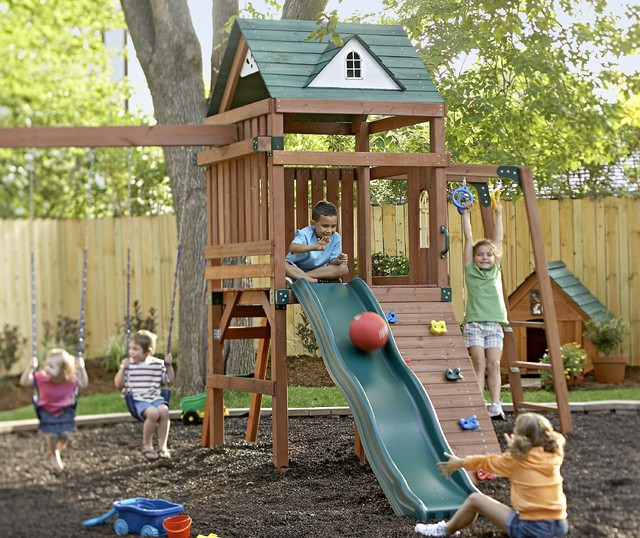 Nice Kidsu0027 Backyard Play Area Traditional Kids Amazing Ideas