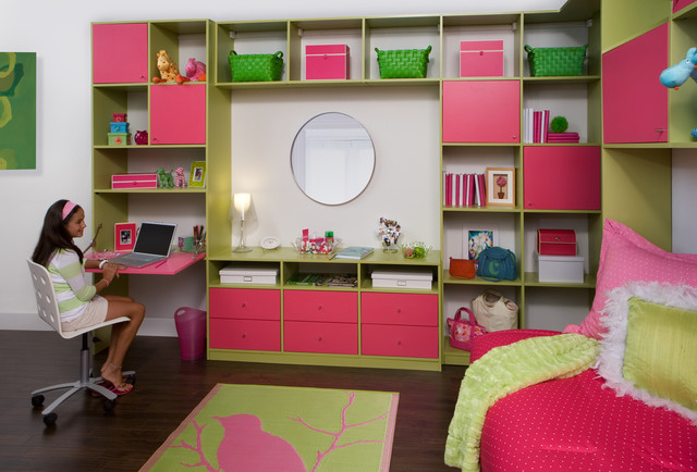 Kids' Built-in Bed and Wall Unit - Transitional - Kids - new york - by transFORM | The Art of ...