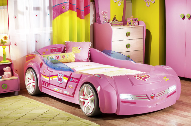 Beautiful Kids Car Bedroom For Girls   Pretty In Pink Modern Kids