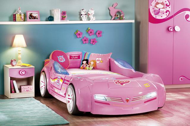 kids car bedroom for girls - pretty in pink - modern - kids