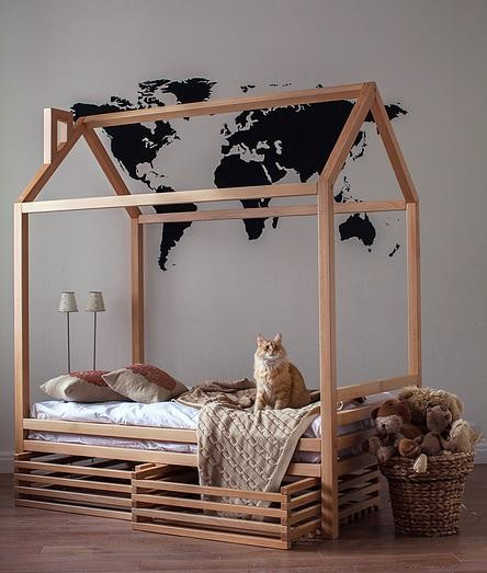 Kids furniture House frame bed