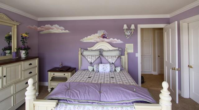 Kids Girl 39 S Purple Fairy Room Traditional Kids Los