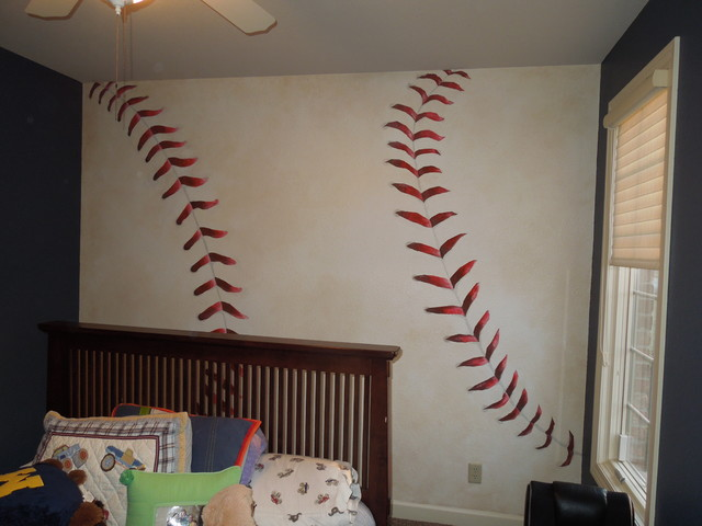 Kids murals traditional kids other by art by kelly for Baseball field mural