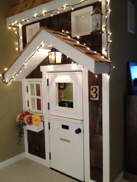 Kids Playhouse under Stairs Traditional Kids Dc Metro