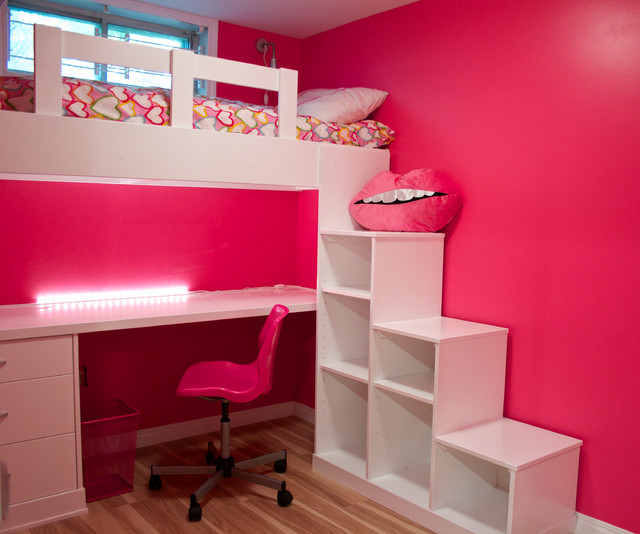 Kids playroom and desk - Contemporary - Kids - calgary - by Kniss Custom Woodwork