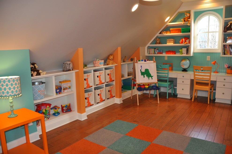 Inspiration for a contemporary kids' room remodel