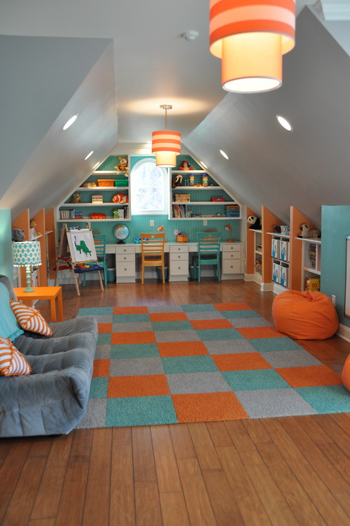 Colorful kids 39 playroom for Houzz kids room