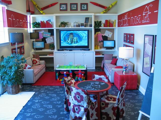 Kids playroom traditional-kids