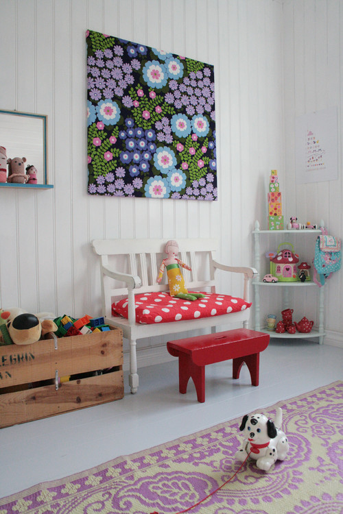 a section in the playroom for little girls