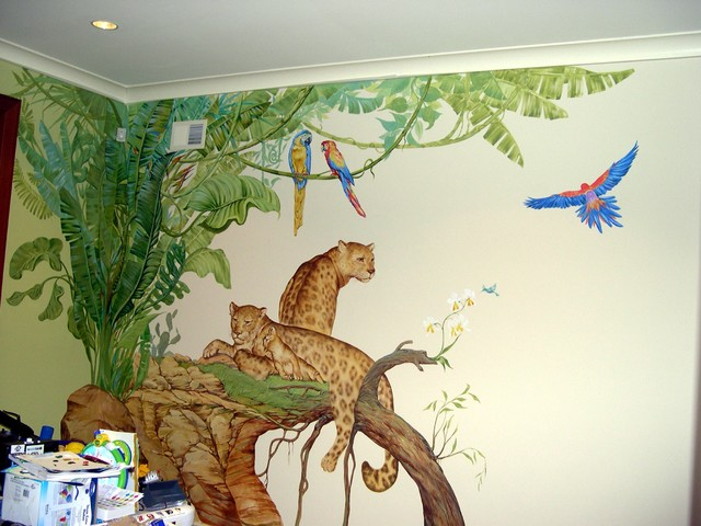Kids Room Mural tropical kids
