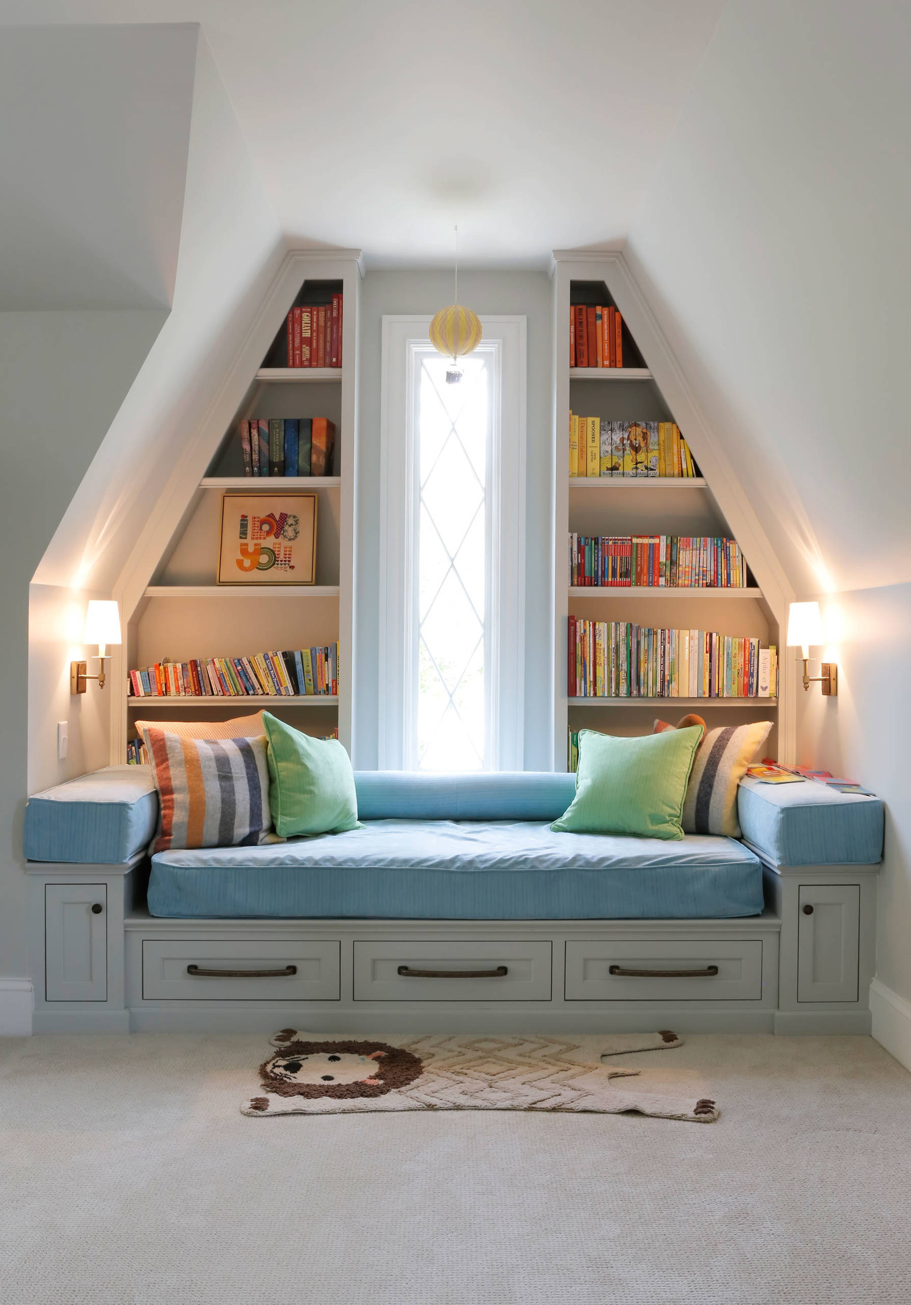 Built In Library Nook