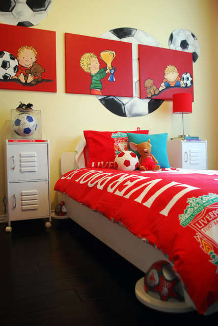 Kix's Soccer Room contemporary-kids