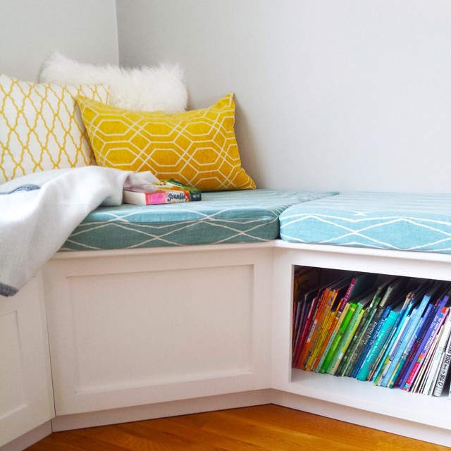 L Shaped Corner Bench With Storage Contemporary Kids