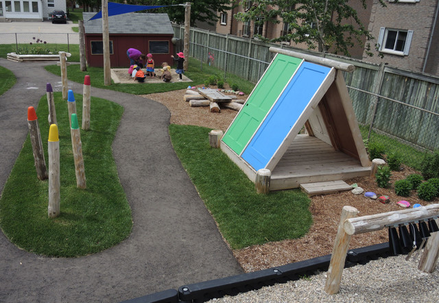 Home Daycare Backyard Ideas : Lakeshore Daycare  Traditional  Kids  Toronto  by Earthscape