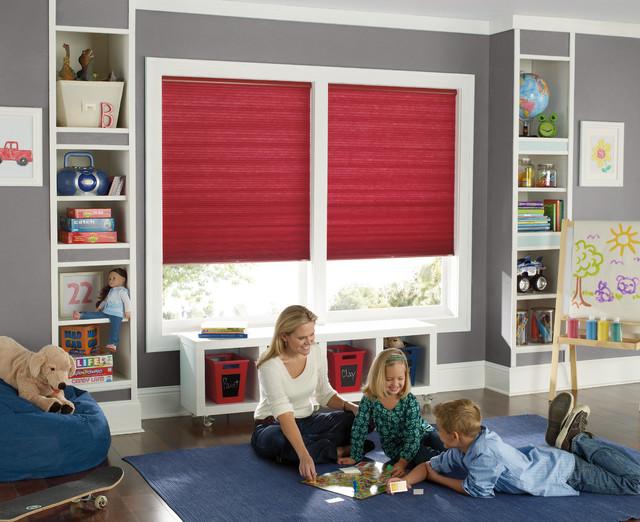 Window Treatments Elegant Kids Room Photo In Houston