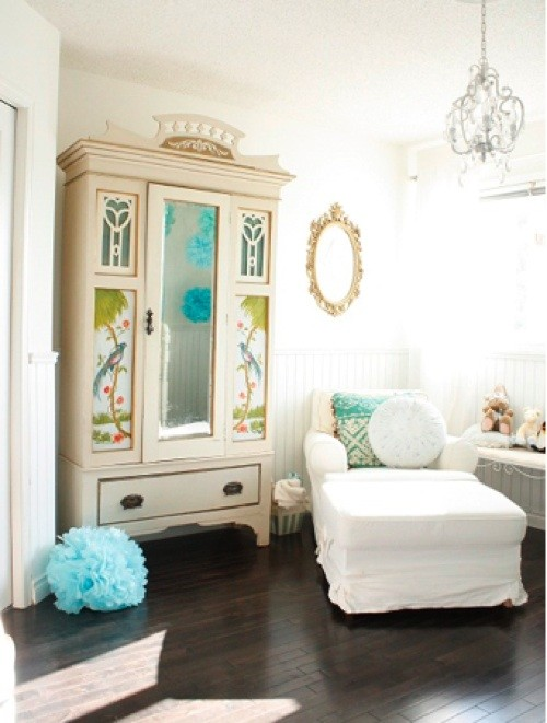 Example of a cottage chic kids' room design in Edmonton