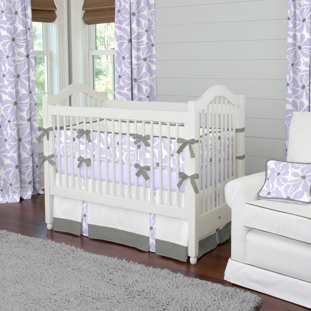Lilac Twirly Crib Bedding