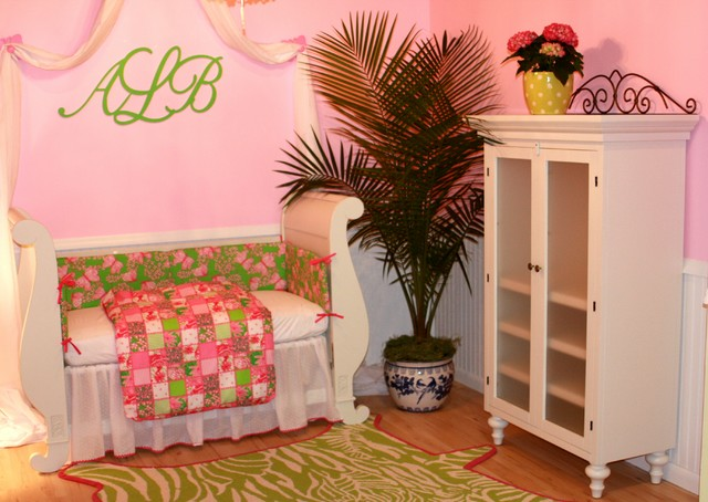 Lilly Pulitzer GIrl Baby Nursery eclectic kids