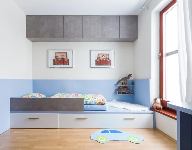 Little boys room transformation contemporary-kids