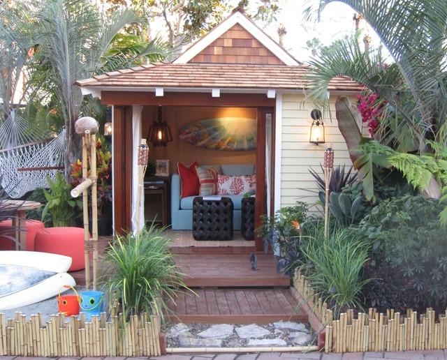 Hawaiian Backyard Decor :  Playhouse 2011  Tropical  Kids  orange county  by D for Design