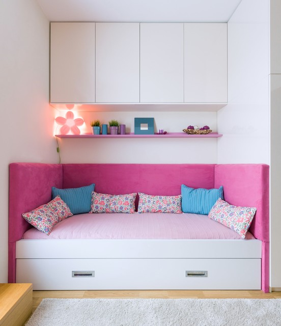 Little girls room transformation contemporary-kids
