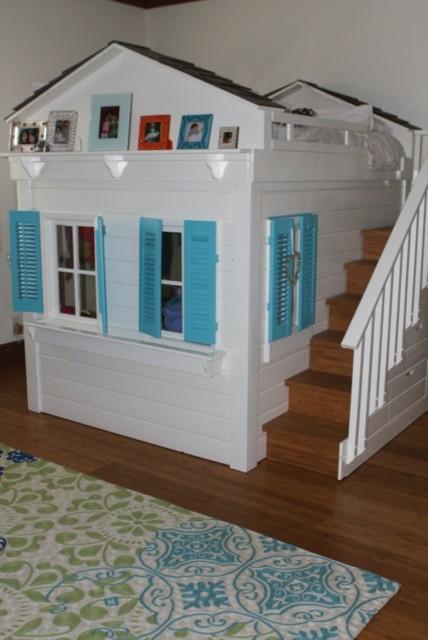 Living Room Hardwood Floor Install traditional-kids