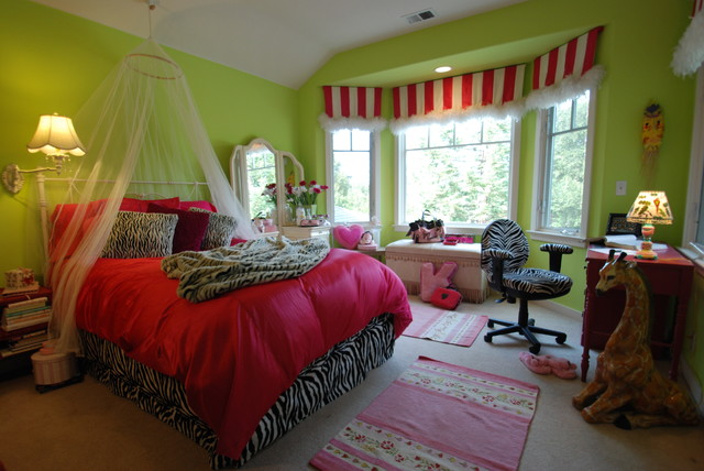 Los Altos Girls Bedroom eclectic kids