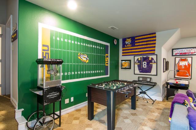 Lsu Football Gameroom Transitional Kids New Orleans By Purple Monkey Interiors Houzz Nz