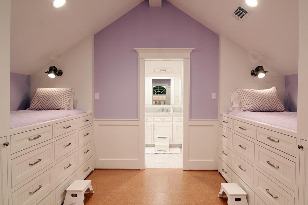 Inspiration for a timeless cork floor kids' room remodel in Houston
