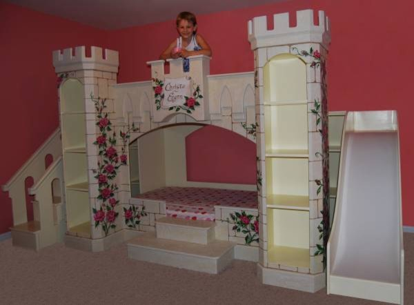 Make a wish foundation princess room makeover for Castle kids room