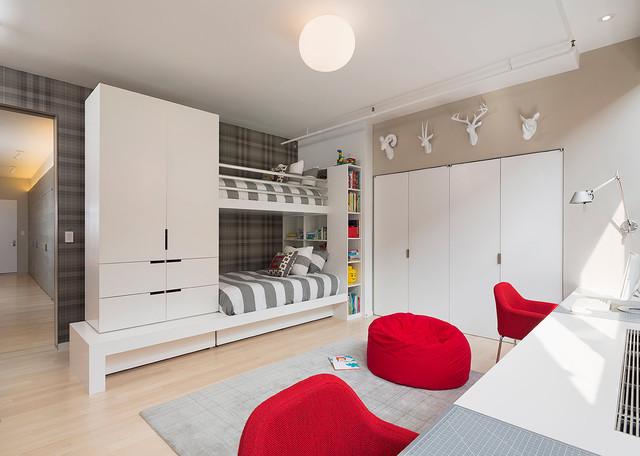 Meatpacking Loft:  kids room modern-kids