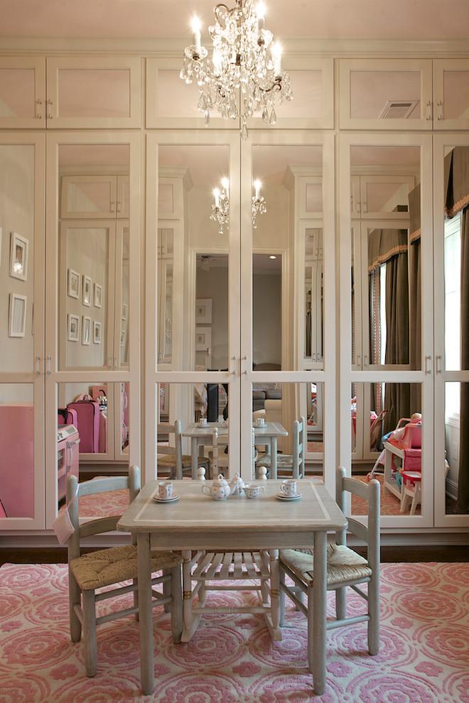 Inspiration for a timeless girl dark wood floor kids' room remodel in Dallas
