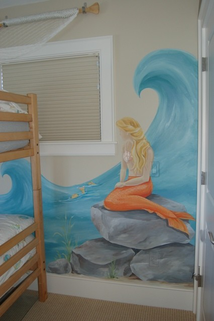 Mermaid Mural Traditional Kids Boston By